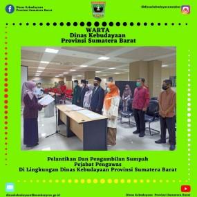 Pelantikan Dan Pengambilan Sumpah Pejabat Pengawas Di Lingkungan Dinas Kebudayaan Provinsi Sumatera Barat