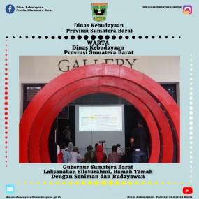 Gubernur Sumatera Barat Laksanakan Silaturahmi, Ramah Tamah  Dengan Seniman dan Budayawan
