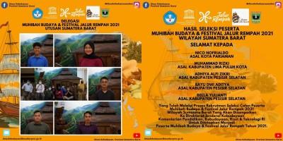 5 Peserta Muhibah Budaya Dan Festival Jalur Rempah 2021 Utusan Sumatera Barat Terpilih
